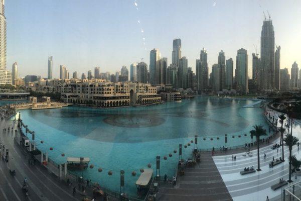 Dubai view from the Dubai Mall