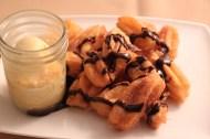 Tres Leches, Salted Yogurt Ice Cream Churros Con Chocolate