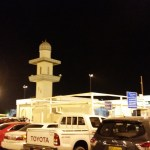 The first mosque I saw in Oman - in the airport parking lot