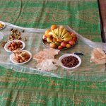 Some of the various treats that we had. Dates, Omani desserts, fruits, and Omani bread among other things.