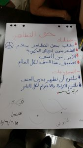 Our poster explaining the requirements for peaceful protests - both for the protesters and the government.