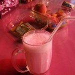 Strange but good rose and milk drink I got in Muscat