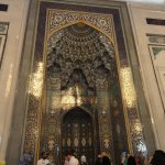 The mihrab of the mosque - indicating the direction of the Ka'aba in Mecca.