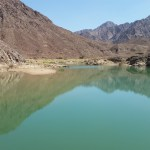 The pool at the end of the wadi - collected rainwater