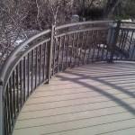 Custom Residential Curved Railing Omarail Aluminum Railing And Fencing Omaha Nebraska