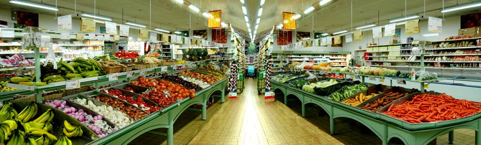 rayon de légumes frais magasin Marché Frais