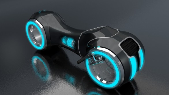 Moto Tron_v3 bleue