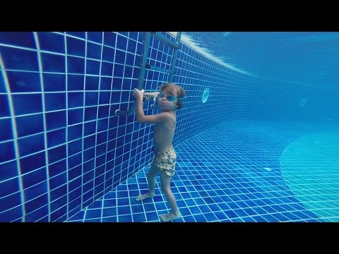 Underwater GoPro takes amazing pictures in swimming pool