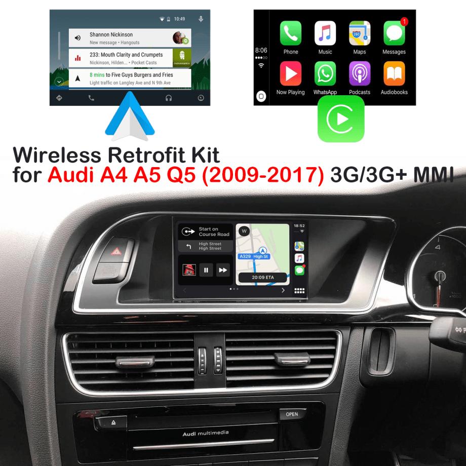 Auto Retrofit - Audi MMI 3G and MMI 3G+ Android Auto & Apple CarPlay Module (Wireless)