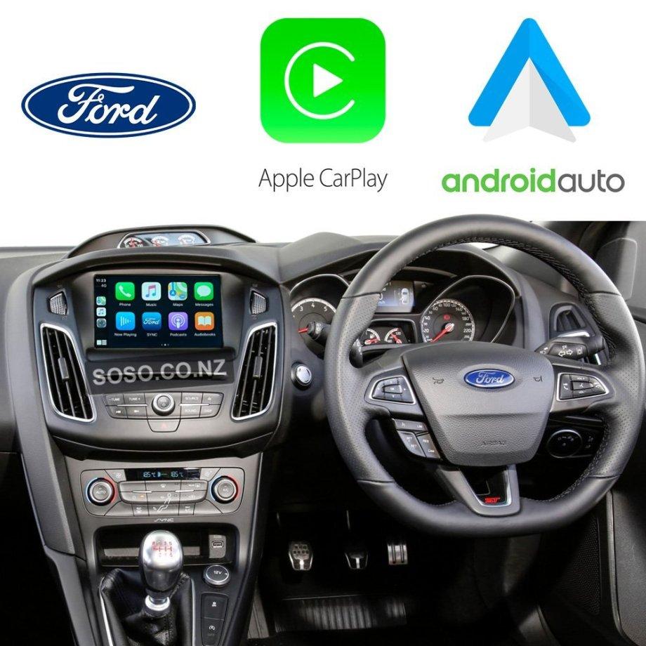 Auto Retrofit - Ford Focus 2012~2017 Apple CarPlay & Android Auto Integration Kit (Wireless)