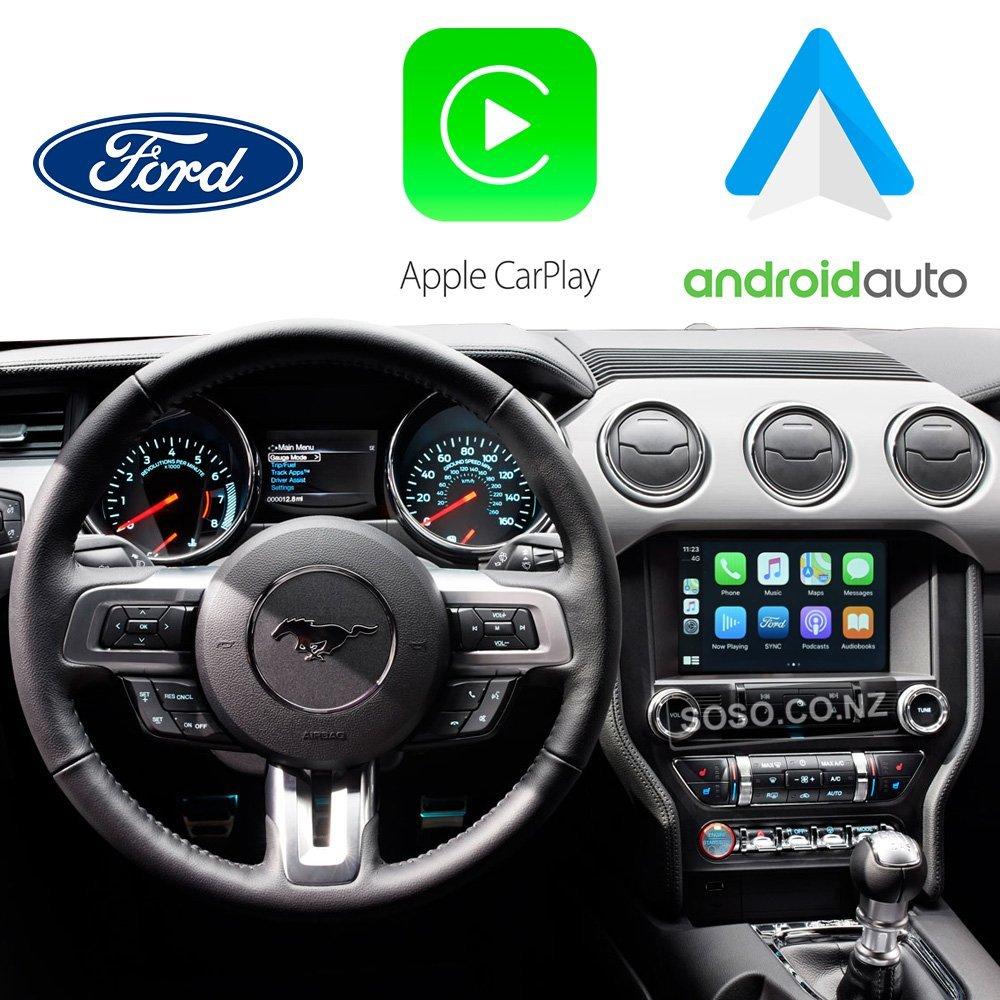 Auto Retrofit - Ford Mustang 2015~2017 Apple CarPlay & Android Auto Integration Kit (Wireless)