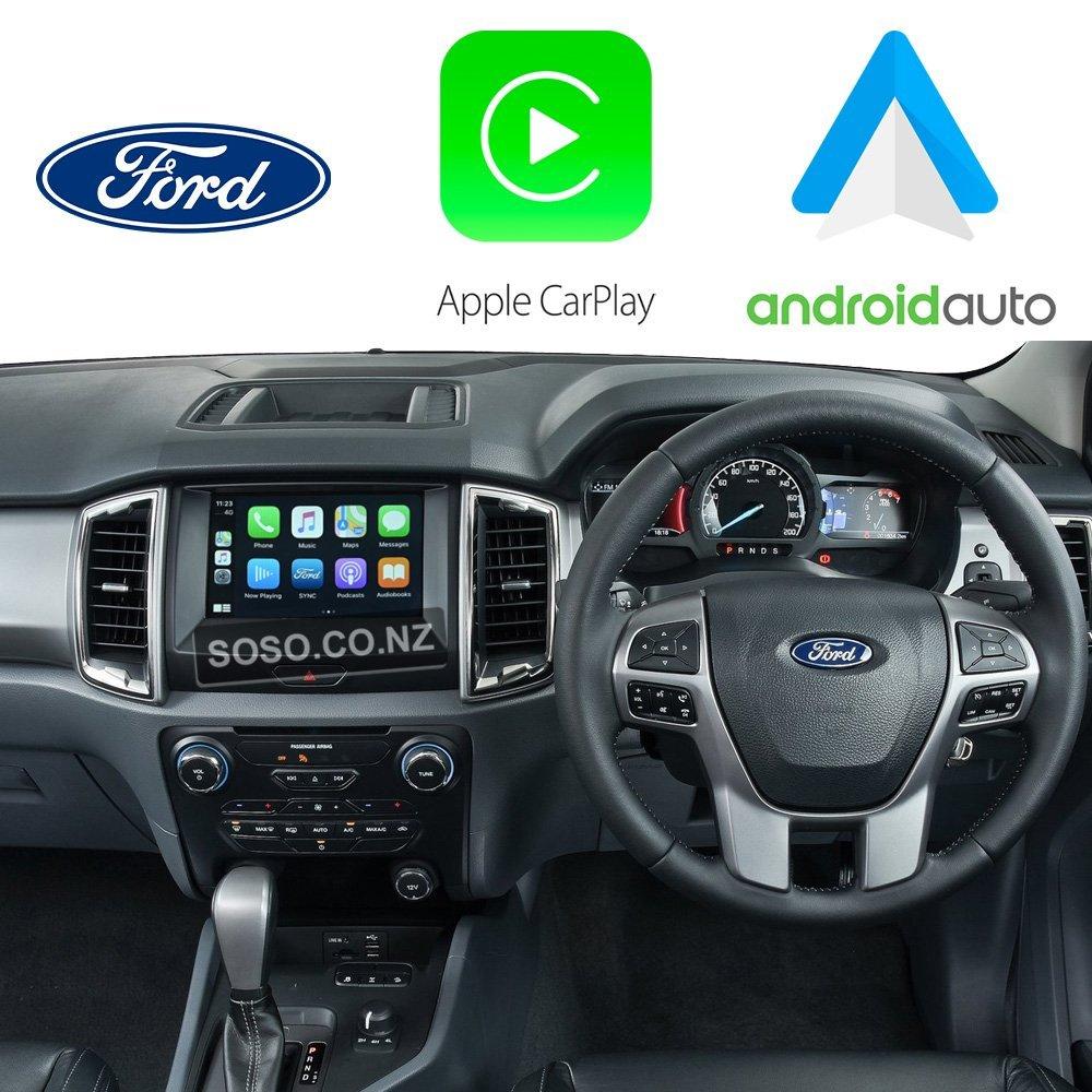 Auto Retrofit - Ford Ranger 2015~2017 Apple CarPlay & Android Auto Integration Kit (Wireless)