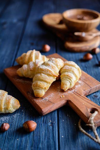 Haselnuss Croissants