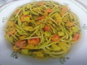 Spaghetti mit Sommergemuese