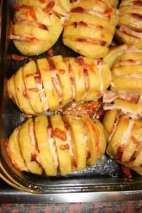 Ofenkartoffel mit Speck