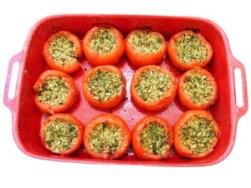 gefüllte Paprika mit Spinat