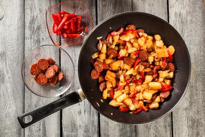 Kartoffel Paprika Pfanne