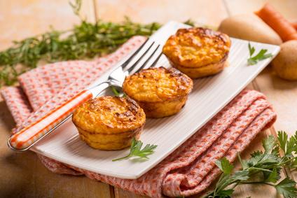 Kartoffel Karotten Muffins