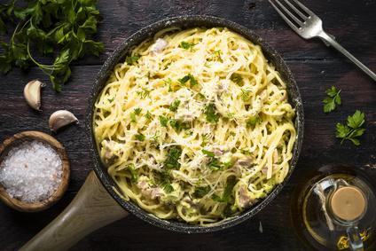 cremige Spaghetti Pfanne
