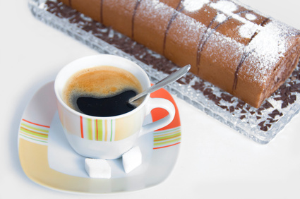 Kaffee Biskuitroulade