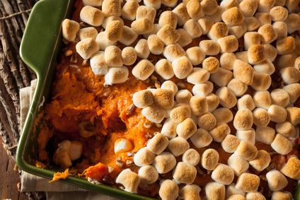 Süßkartoffel Auflauf mit Marsmallows