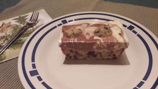 Marmorierter Plätzchenkuchen