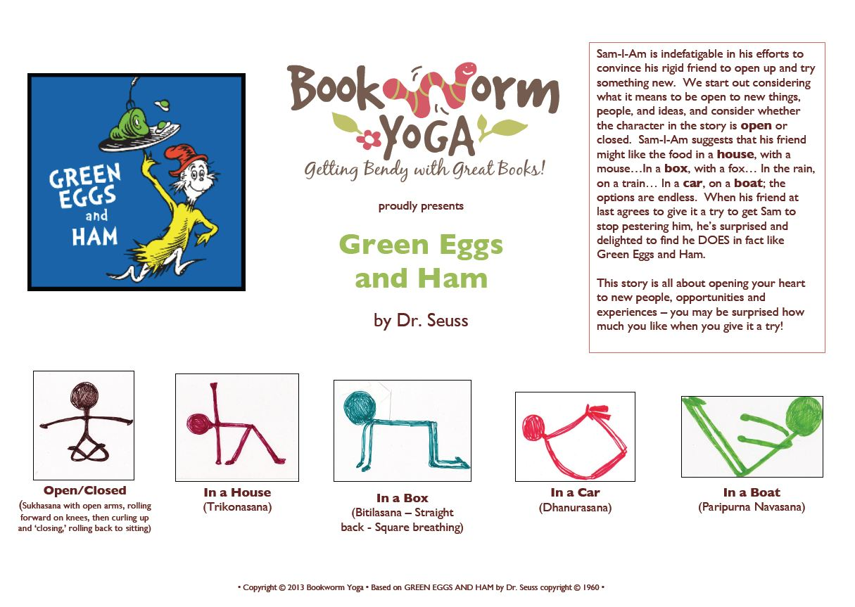 Yummy Young Yoga With A Side Of Green Eggs And Ham