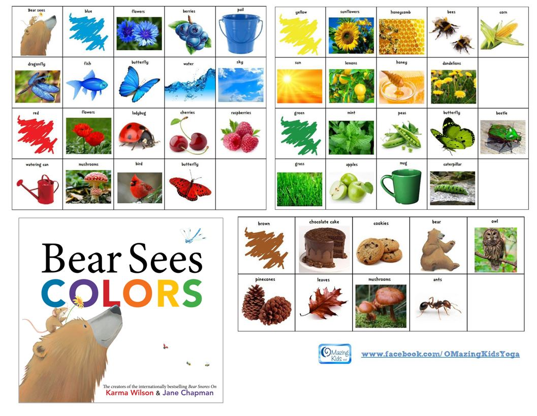Free Printable Symbols For Bear Sees Colors By Karma