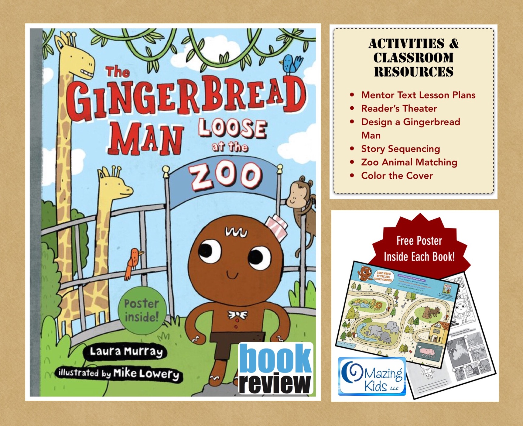 Book Review The Gingerbread Man Loose At The Zoo By