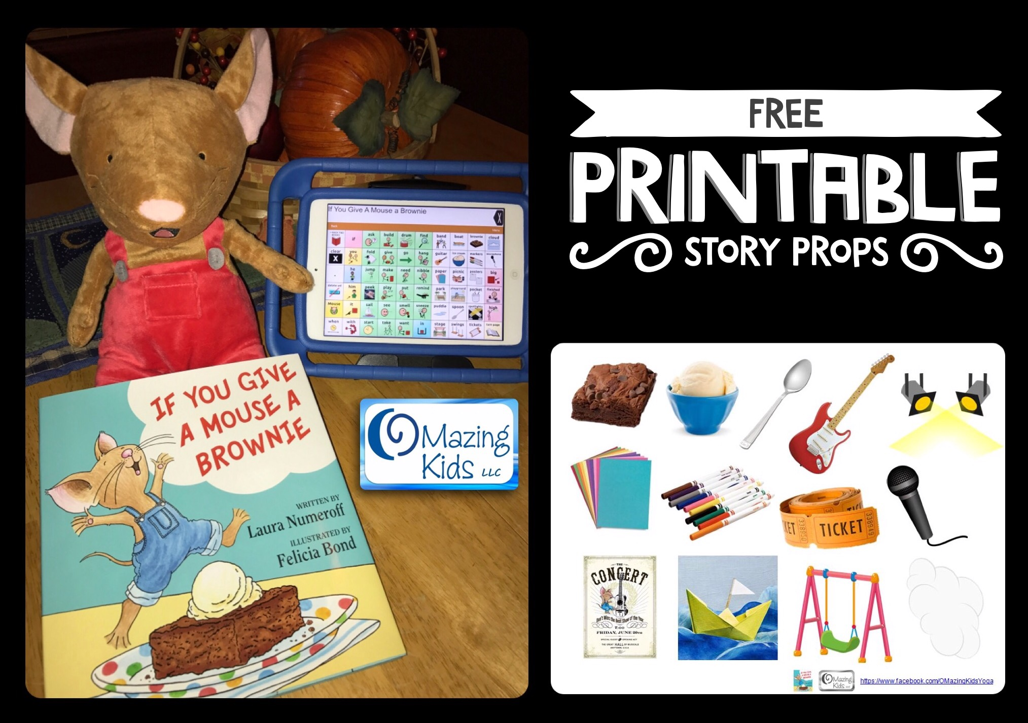 Free Printable If You Give A Mouse A Brownie Story Props Omazing Kids