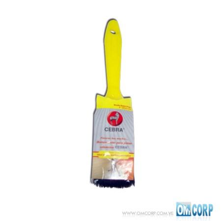 Brocha 1 Para Pintar Con Mango Amarillo Nuevo Hogar Cebra