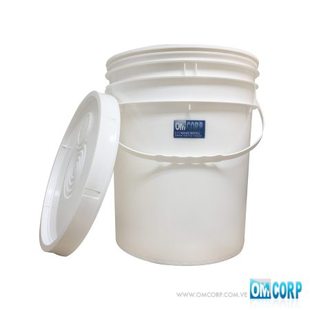 Envase Cuñete Paila Tobo Plastico 5 Galones Blanco Con Dispensador