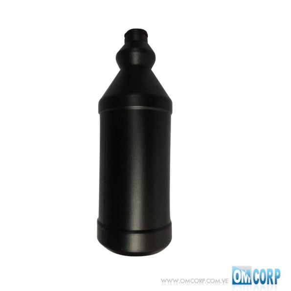 Envase Plastico 1 Litro Negro Tipo Botella Con Tapa Presion MIA10164P 1