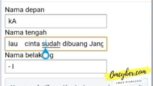 aturan nama panjang FB