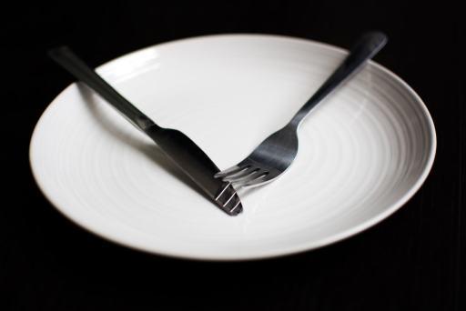 Fasting dinner plate