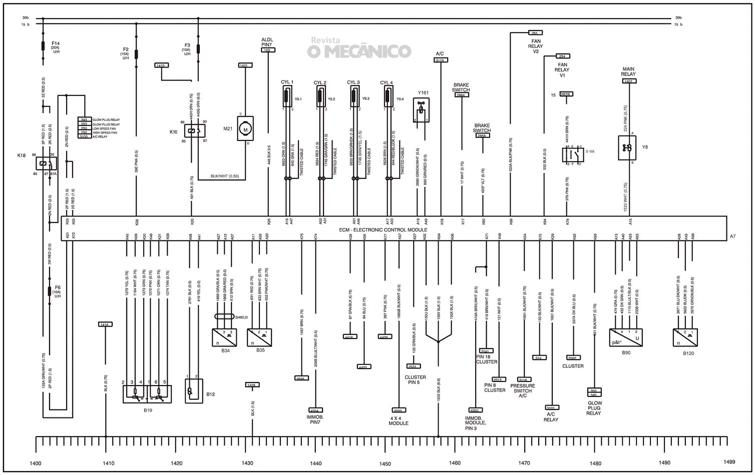 Revista O Mecanico Esquema Da Injecao Eletronica Da