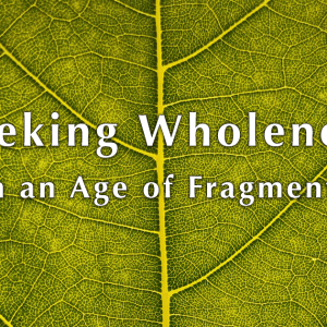 Webinar: Seeking Wholeness in an Age of Fragments