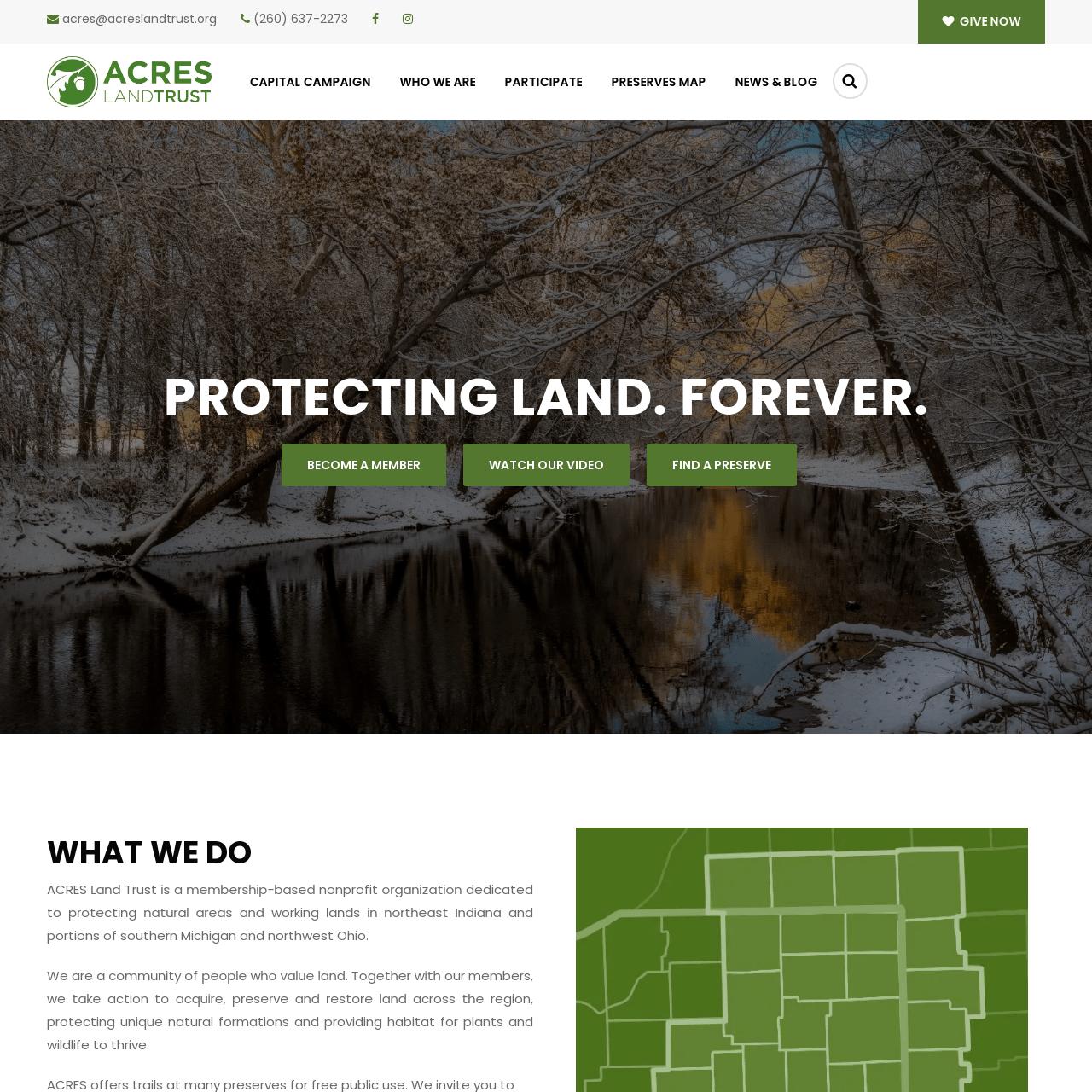 ACRES Land trust снимка на екрана