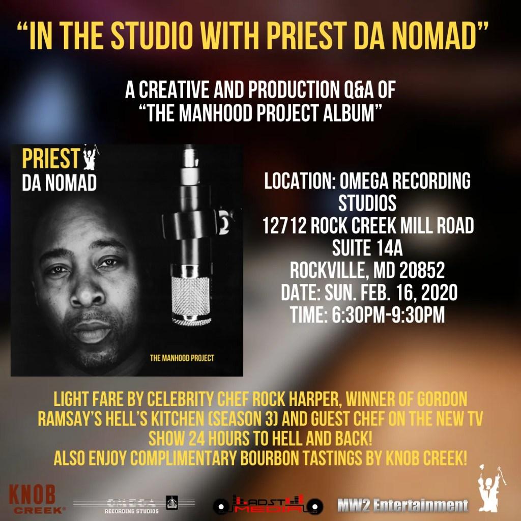 Priest da Nomad at Omega Recording Studios