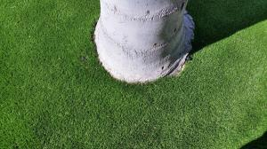 OmegaTurf detail tree base craftsmanship