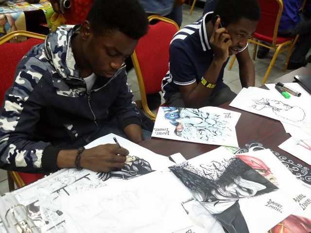 So I am at the Lagos comic con. First guy I spoke to is Daniel Inniel. Daniel says he is here to 'look for sponsorship.'