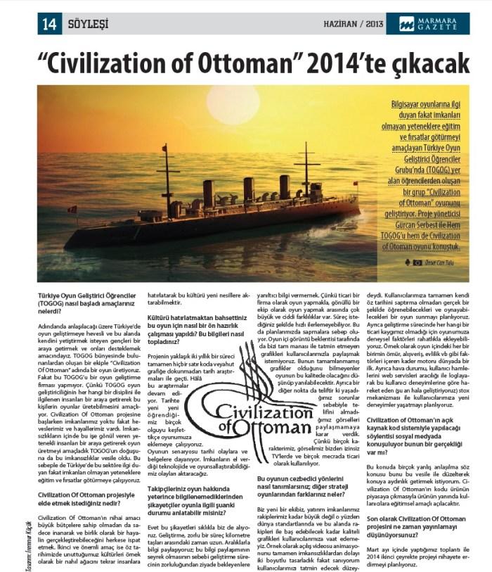 Civilization of Ottoman GAZETE1