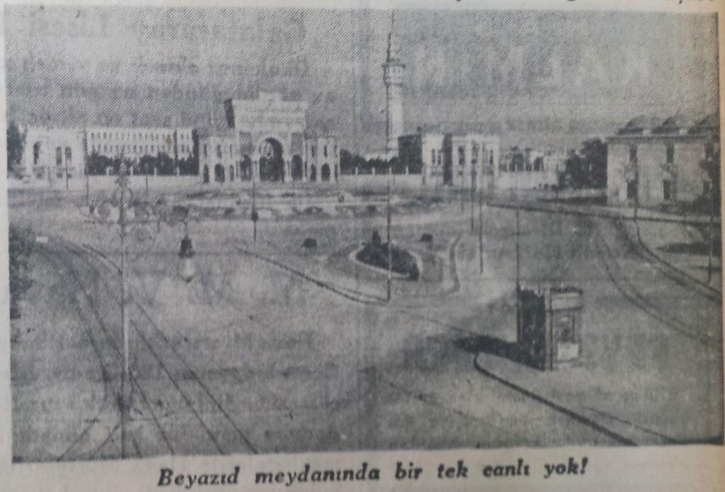 1935 Nüfus sayımında Beyazıd meydanı