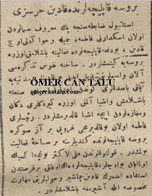 Sevimli hırsızlar Osmanlıca haber 1