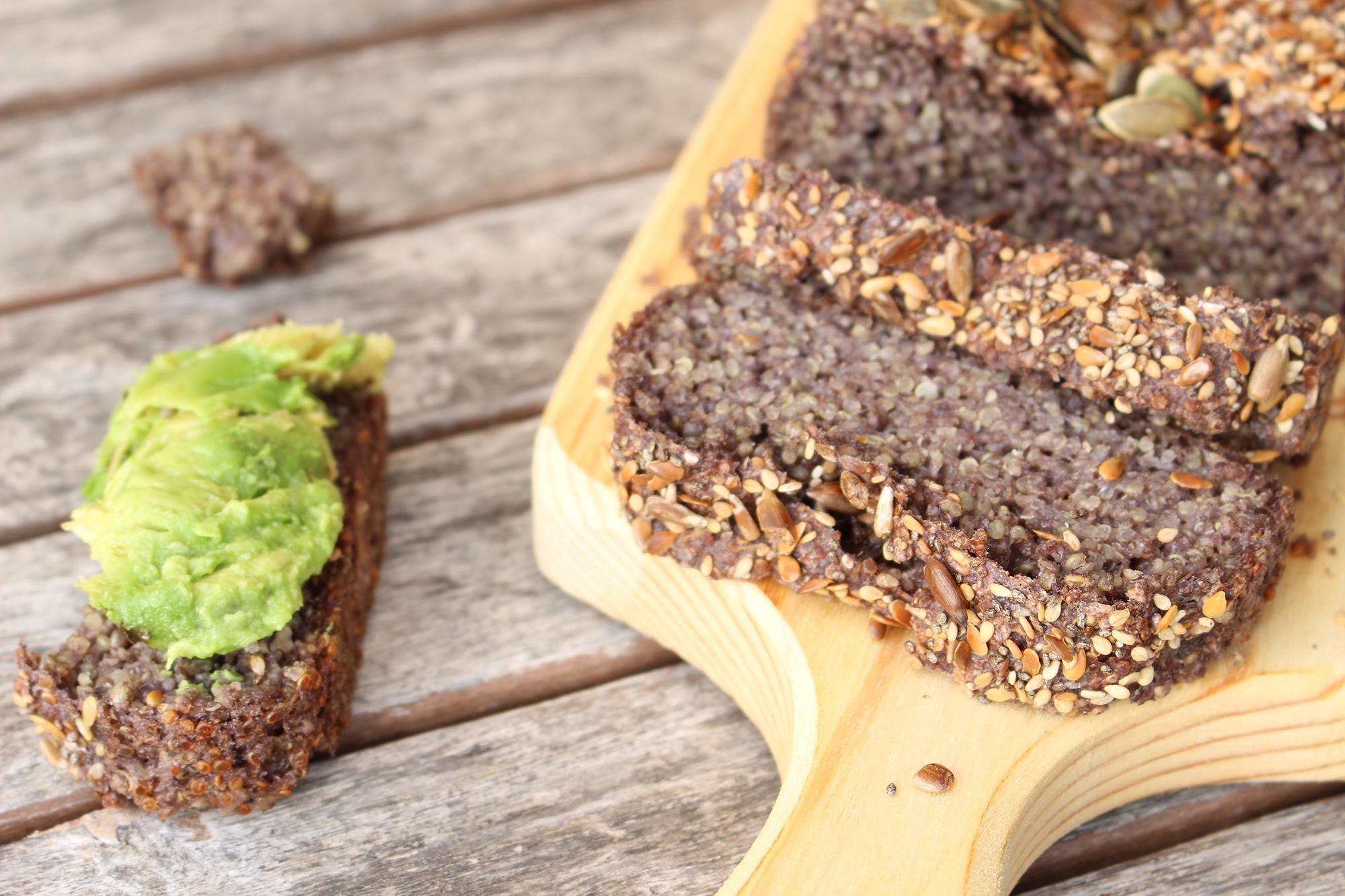 Pão de Quinoa e sementes