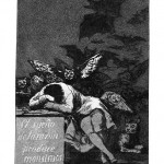O sono da razão produz monstros (quadro de Goya - 1746-1828)