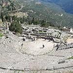 Oráculode Delfos, um dos mais famosos da Antiguidade grega.