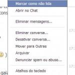 Facebook apagar mensagens