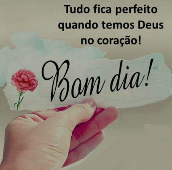 Bom dia com Deus tudo é perfeito.
