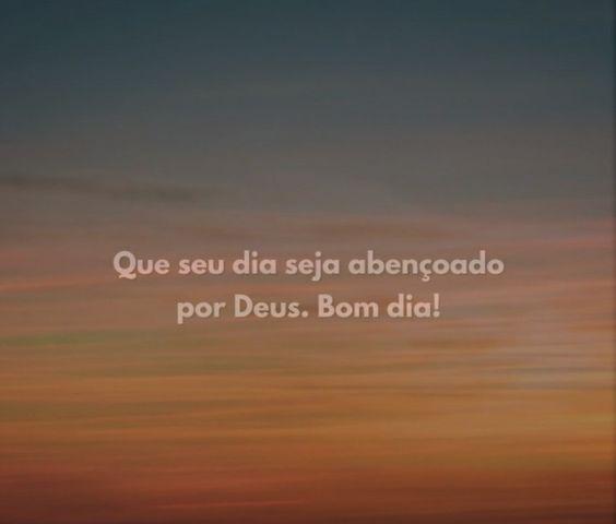 frase de bom dia de Deus.
